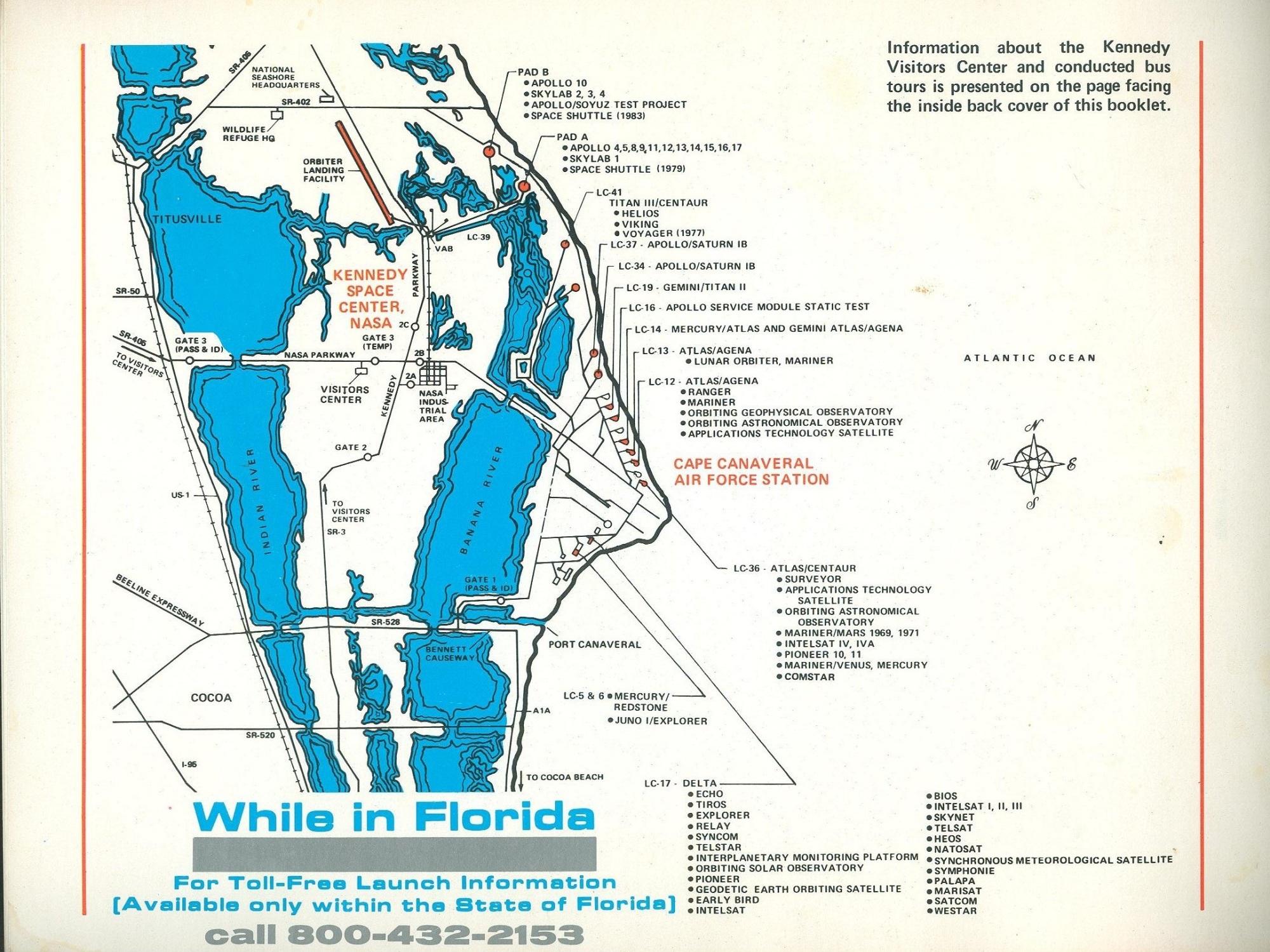 nasa kennedy center in florida map - photo #19
