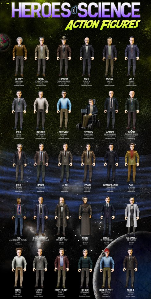 HEROES OF SCIENCE action figures