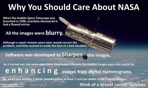 Hubble Telescope Cancer Technology